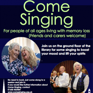 come singing at the Millenium Library, Norwich